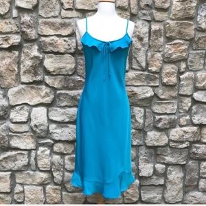 🖤 Boutique Europa Ruffle Teal Turquoise Dress